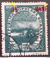 Error Romania 1952, Mi 1357 With Surcharge Redd Misplaced In Right - Variedades Y Curiosidades