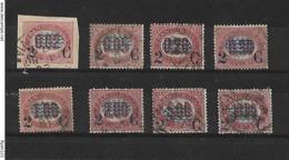 Regno 1878, Francobolli Di Servizio Del 1875 Con Soprastampa - Serie Completa Usata 8 Valori - 1861-78 Victor Emmanuel II