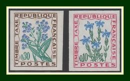 Non Dentelé Taxe N° 96 (*) + 99 ** Fleur Flower - Frankrijk