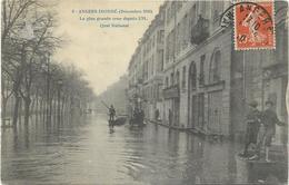 édit. Inconnu - 8 - ANGERS INONDE (Décembre 1910) - La Plus Grande Crue Depuis 1711. - Quai National - Angers