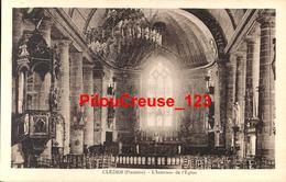 """29 Finistère  - CLEDER - """" Intérieur De L'Eglise """" - VUE RARE - Cléder"""