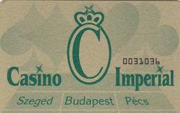 SCHEDA TESSERA CASINO IMPERIAL BUDAPEST  NON ATTIVA - Altre Collezioni