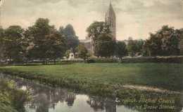 Tavistock Fitzford Church And Drake Statue 1909 # Frith's Series # - England