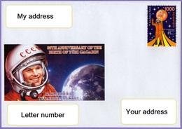 Kazakhstan 2019. A Letter To Your Address.  Space.  Yuri Gagarin. - Kazakhstan