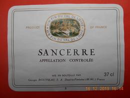 """1  Etiquette Neuve  De Vin De VAL DE LOIRE """"  SANCERRE """" - Blancs"""