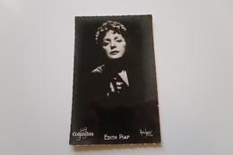 Carte Photo - Édith PIAF - Columbia - Sänger Und Musikanten