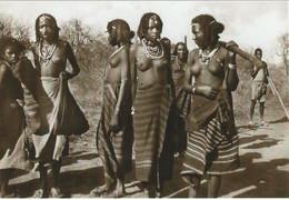 Donne Cunama, Femmes Seins Nus, Nu Etique,  Photo Of Old  Postcard; 2 Scans - Eritrea