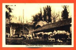 """CPA 52 Chalancey """" La Fontaine """" Vaches - Autres Communes"""