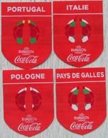 Lot Autocollant Coca Cola Football 2016 Matière Tissu - Autocollants