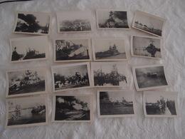 29 Photos Anciennes Originales Bateau Marine Nationale Sabordage De La Flotte - Bateaux