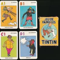 JEU DE FAMILLES (Carta Mundi 1993) : TINTIN, MILOU ET LEURS AMIS..., 8 Familles De 4 Cartes,  Complet, 2 Scans - Giochi Di Società