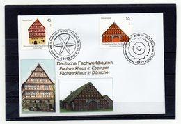 BRD, 2010, FDC (individuell-Stempel Bonn/Berlin) Mit Michel 2823/24, Fachwerkbauten Eppingen Und Dünsche - FDC: Sobres