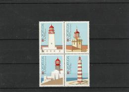Portugal - 1987 - Lighthouse Stamps - MNH (**)-block Of 4 - Leuchttürme