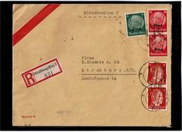 LCTN59/ALS/5 - ALSACE LETTRE RECOMMANDEE STRASBOURG POUR VILLE 23/12/1941 - Alsace-Lorraine