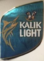 BAHAMAS : KALIK Beer  KALIK LIGHT  With Top And Back Label - Bier