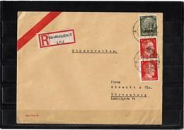 LCTN59/ALS/5 - ALSACE LETTRE RECOMMANDEE STRASBOURG POUR VILLE 8/10/1941 - Alsace-Lorraine