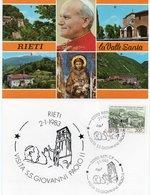 CITTA DEL VATICANO-VISITA S.S.GIOVANNI PAOLO II-RIETI 1983 - Errors & Oddities