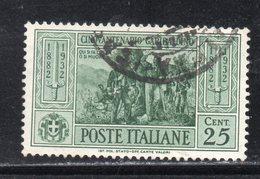 Rox 1932 Regno D'Italia Garibaldi 20c   Usato - Oblitérés