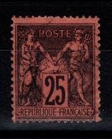 Sage Type II - YV 91 Oblitere, Pas Aminci Cote 30 Euros - 1876-1898 Sage (Tipo II)