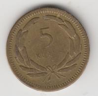 @Y@  Turkije   5  Kurus  1951    (item 4781) - Turquie