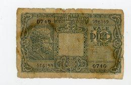 ITALIE: 10 LIRES - USÉ - [ 2] 1946-… : République