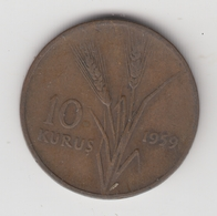 @Y@  Turkije   10  Kurus  1959    (item 4780) - Turquie