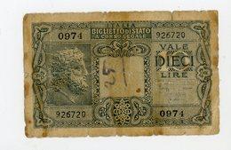 ITALIE: 10 LIRES - USÉ - [ 2] 1946-… : Républic