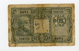 ITALIE: 10 LIRES - USÉ - [ 2] 1946-… : Repubblica