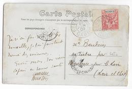 1909 - GABON - CARTE De FERNAN-VAZ => MONTOIRE - Covers & Documents
