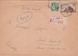 N° 260 N° 280 S / Env Recommandée T.P. Ob Cad Paris 21 9 33 Pour Berlin Allemagne - Marcophilie (Lettres)