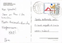 34998. Postal OCHAGAVIA (Navarra) 1995. Vista De LESAKA, Casa Tipica Vasca - 1931-Oggi: 2. Rep. - ... Juan Carlos I