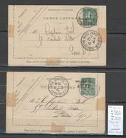 France - Lettre Exposition Philatelique - Paris 1913 - Entier Semeuse - 2 Piéces - Postmark Collection (Covers)