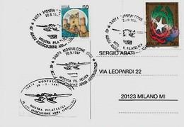 Monfalcone 20-9-1997 Cartoncino Della Mostra Filatelica - Associazione Arma Aeronautica - - Esposizioni Filateliche