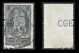 Perforé  CGE  -   YT  259  - Cathédrale De Reims - Perfins