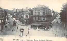 87 HAUTE VIENNE Angle Des Boulevards Carnot Et Garibaldi à LIMOGES - Limoges