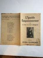 Partition Musicale : L'ignoble Empoisonneuse Ou Le Crime De La Rue De Madagascar Paroles De Jules Hubert - Partitions Musicales Anciennes