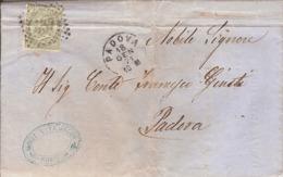 (St.Post.).Regno.V.E.II.1871.-5c Verde Su Lettera Con Testo.Annullo Numerale (41-19) - 1861-78 Victor Emmanuel II.