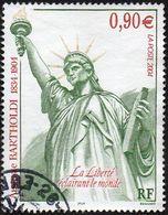 Oblitération Cachet à Date Sur Timbre De France N° 3639 ** La Liberté D' Auguste Bartholdi - Statue. Sculpture. Flamme - Frankreich