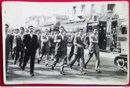 Greece-Athens 1950,Trams And Parade 28-10-1950. - Trains