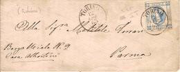 """(St.Post.).Regno.V.E.II.-12 Apr 1863.-15c I° Tipo Su Busta.Varietà """"C Chiusa"""" (295-16) - 1861-78 Victor Emmanuel II."""