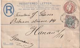 Grossbritanien / 1903 / Einschreiben-Ganzsachenumschlag Mit Guter Zusatzfrankatur Nach Hanau (2612) - 1902-1951 (Reyes)