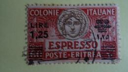 ITALIE- COLONIE- ERYTREE -- Used 1926 LETTRE EXPRESS 1,25 Lire - Cote Yvert 15,00€ - Eritrea