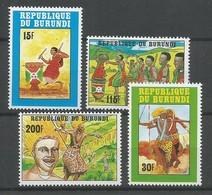 Burundi - COB 978/81 Série Complète MNH / ** 1992 COB: 22,50€ Danses Et Tambours - Burundi