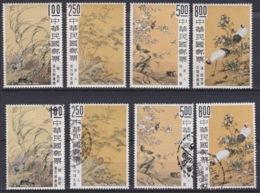 "TAIWAN 1969, ""Ancient Chinese Paintings IV"", Serie Unmounted Mint + Cancelled - 1945-... République De Chine"