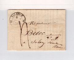 Sur LAC Pour Salon B. Du Rhône CAD Type 12 Valence Drôme. Type 12 Salon. Taxe Manuscrite. (3474a) - Postmark Collection (Covers)