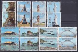 "TAIWAN 1974, ""Taiwan Scenery I + II"", 2 Series, Each Unmounted Mint + Cancelled - 1945-... Republik China"