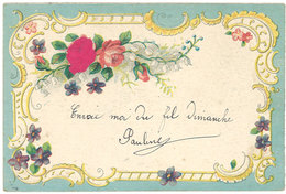 Cpa Fantaisie Fleurs, Roses ( Gaufrée ) - Autres