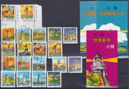 """TAIWAN 1991-1992, """"Light Houses"""", 6 Series + 2 Booklets 1991, 1 Booklet 1992, All FD-cancellation - 1945-... Republik China"""