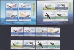 "TAIWAN 2002 + 2006, ""Whales"", 2 Series + Blocks, All Unmounted Mint - 1945-... Republik China"