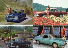Lancia Flavia  -  Lot De 4 Voitures/Automobiles  -  4 X Cartes Postales Modern - 4xCPM - Toerisme
